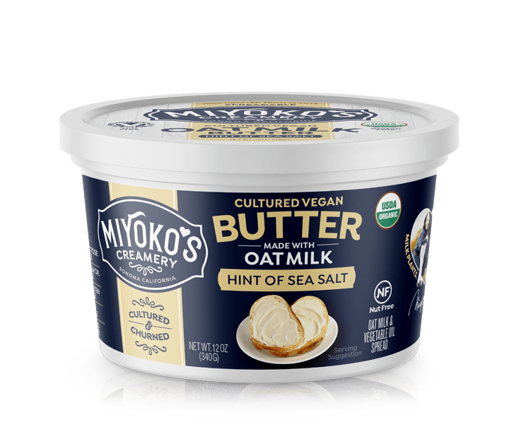 Miyokos Spreadable Cultured Vegan Oat Milk Butter