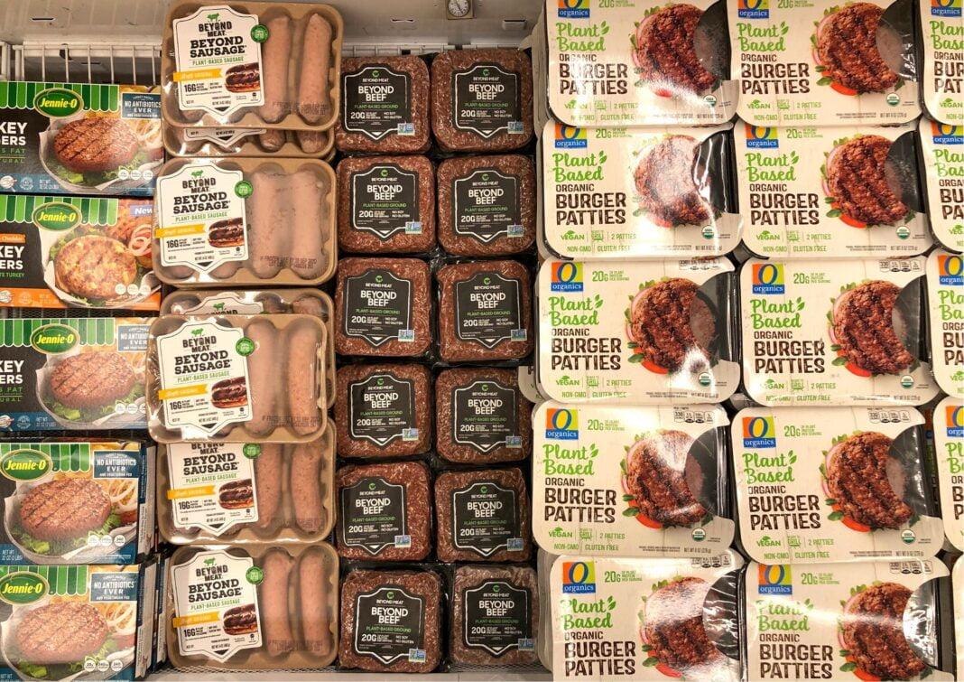 plant-based meat aisle