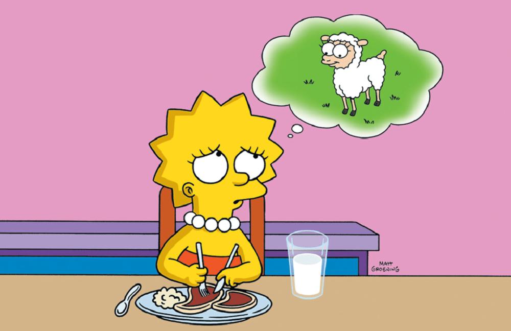lisa simpson vegan