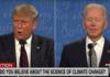 presidential debate cimate change