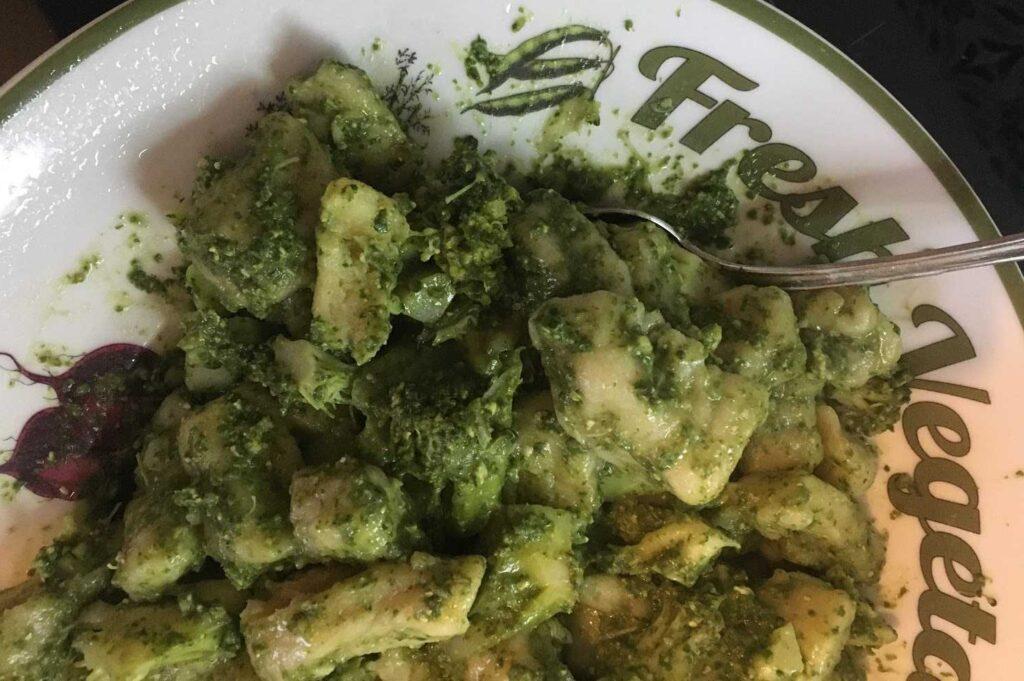 vegan basil gnocchi