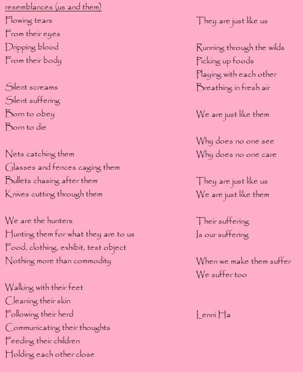 vegan poems