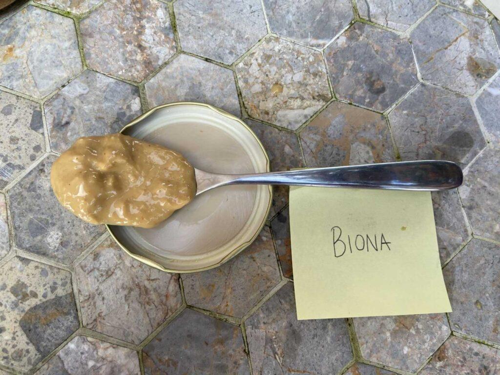 biona peanut butter