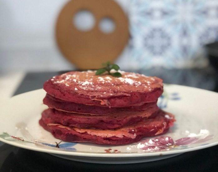 vegan beetroot pancakes
