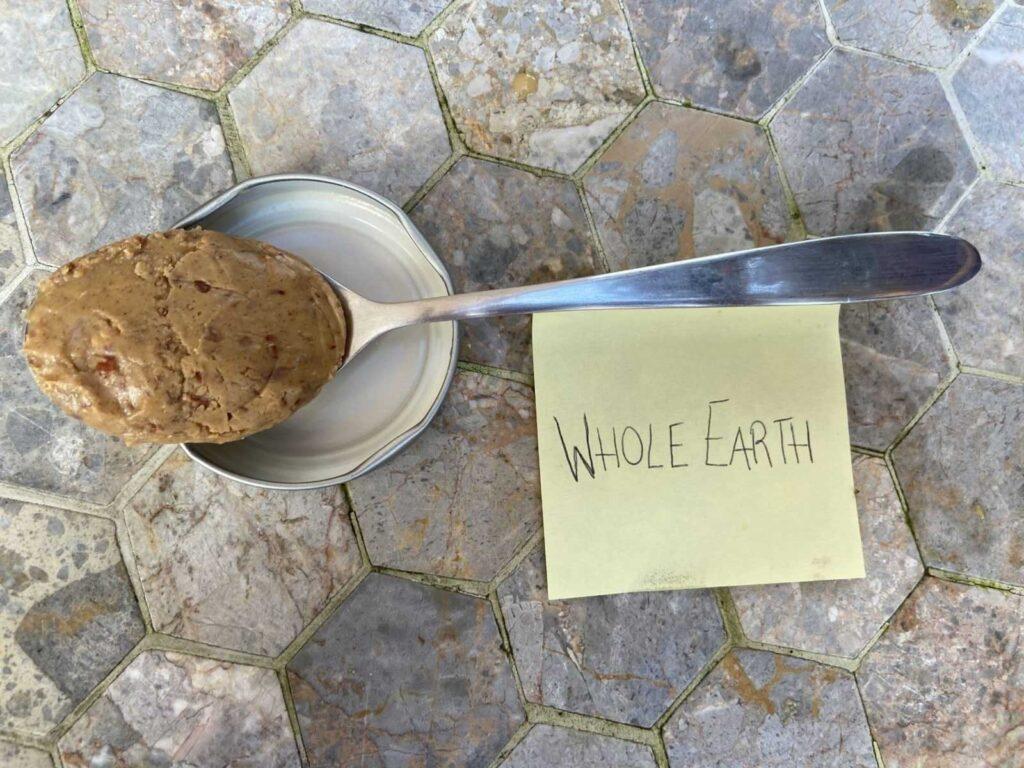 whole earth peanut butter