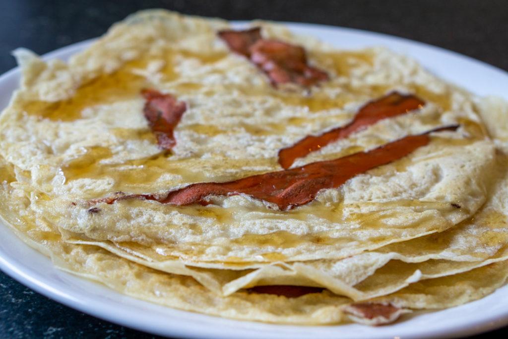 vegan bacon pancakes