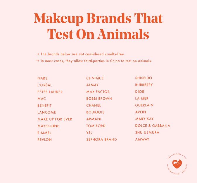 non vegan makeup brands