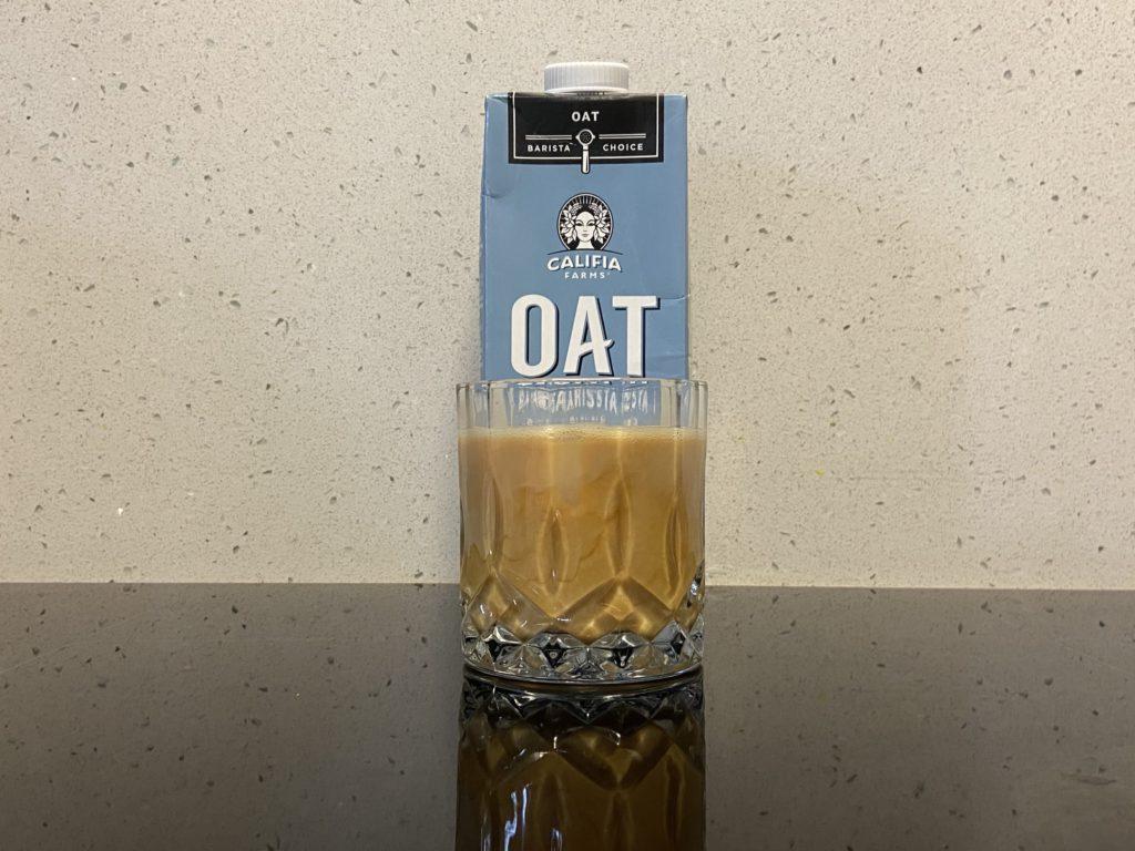 plant based milk cold brew