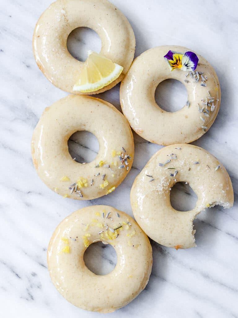 lavender lemon donuts