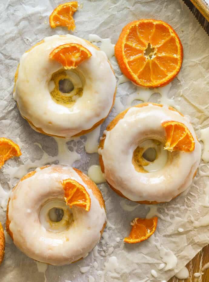 orange olive oil donuts