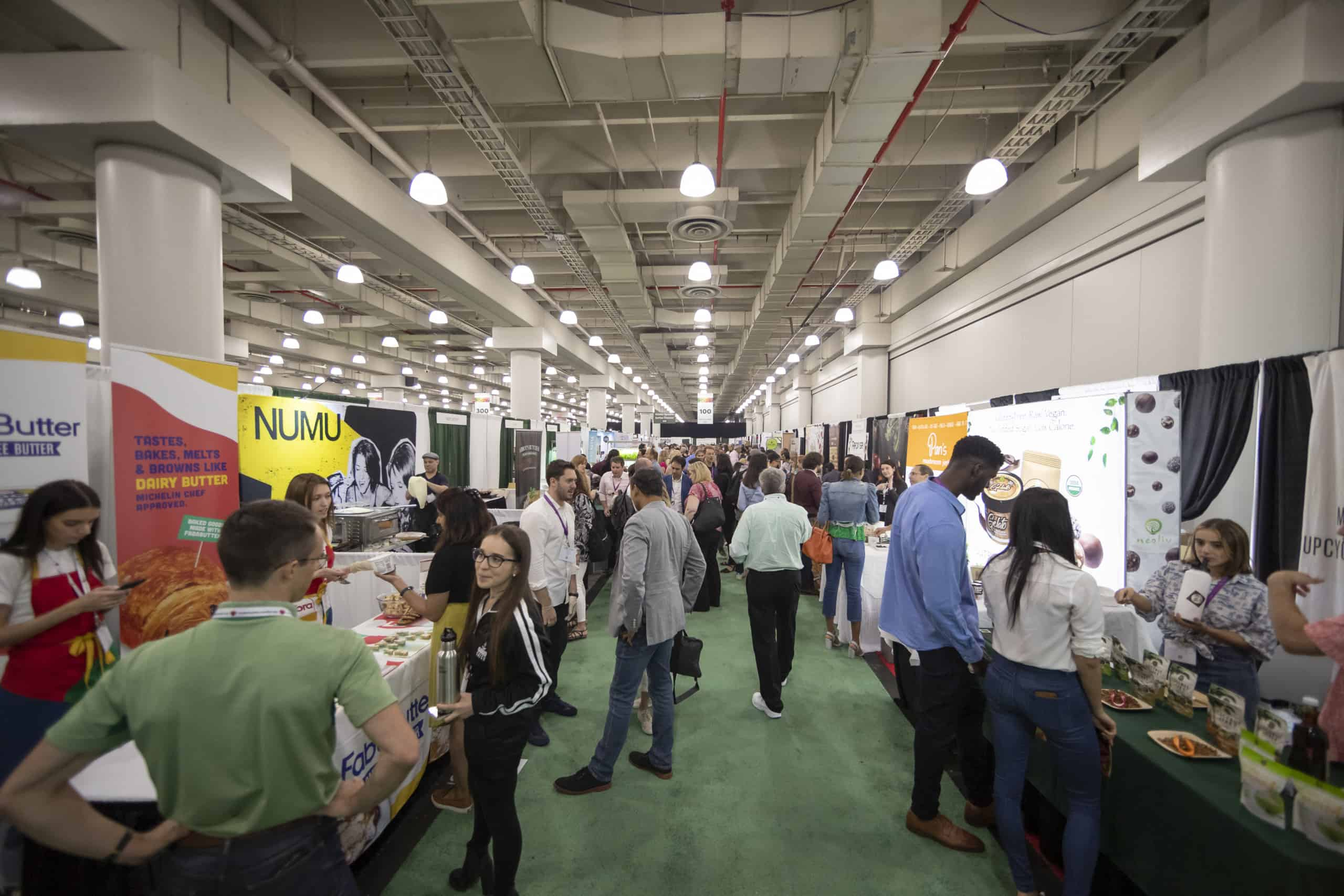 Plant-based world expo visitors